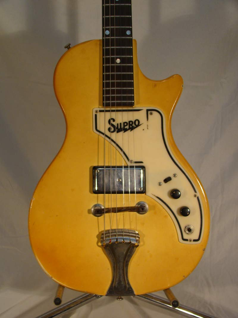 photos of our 1960s Supro Super guitar - front